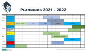 Plannings HBCP 2021-2022