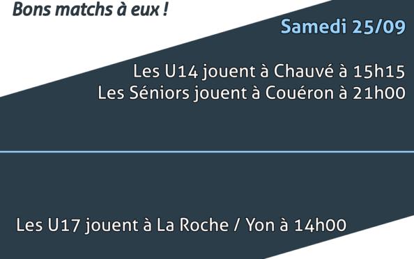 Matchs des 25 & 26 septembre 2021